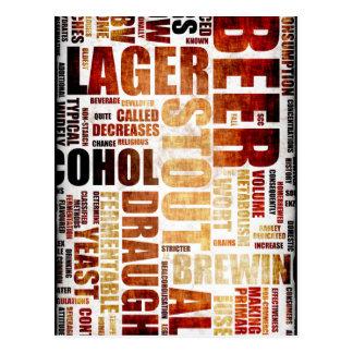 Beer Menu Background Postcards