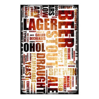 Beer Menu Background Personalized Stationery