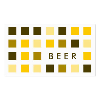 BEER (mod squares) Business Card Template