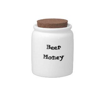 """Beer Money"" Jar Candy Dish"