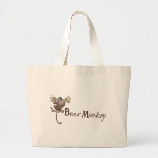Beer Monkey Tote Bags