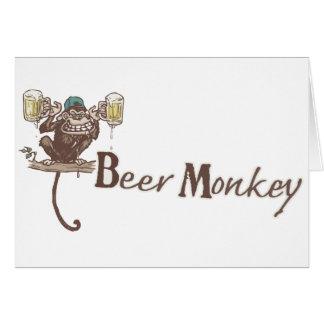 Beer Monkey Greeting Card