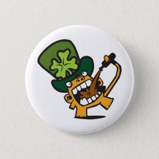 Beer Monkey Celebrates St. Patty's Day Pinback Button