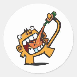 Beer Monkey Sticker