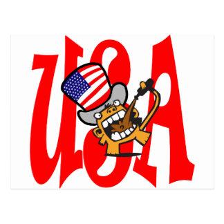 Beer Monkey USA Postcard