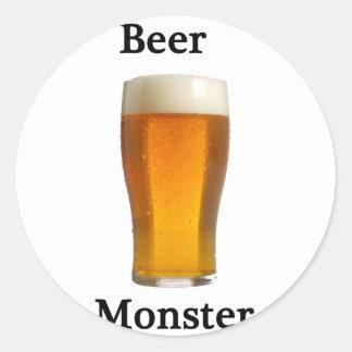 Beer monster sticker