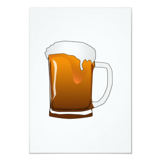 Beer Mug 3.5x5 Paper Invitation Card