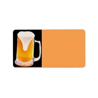 Beer Mug Address Label