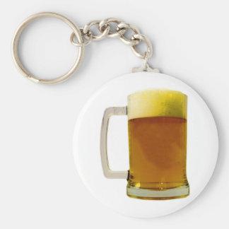 Beer Mug Basic Round Button Keychain