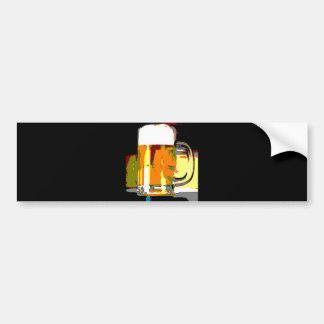 Beer Mug Bumper Sticker