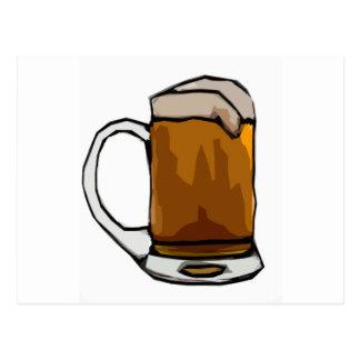 Beer Mug Caricature Postcard