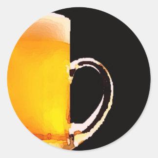 Beer Mug Classic Round Sticker