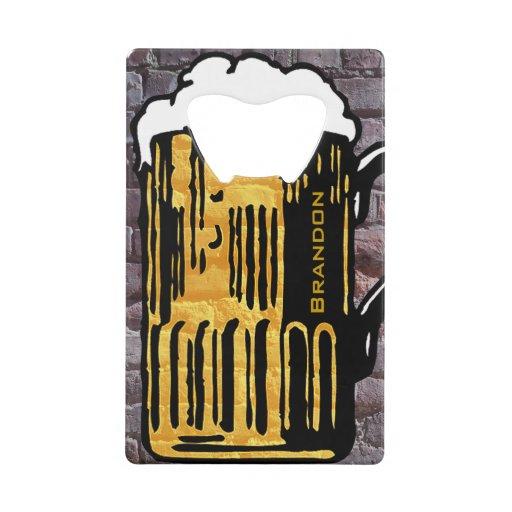 Beer Mug Design Bottle Opener Wallet Bottle Opener