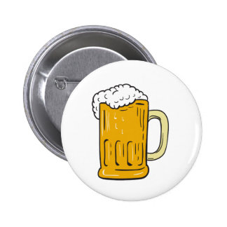 Beer Mug Drawing Button