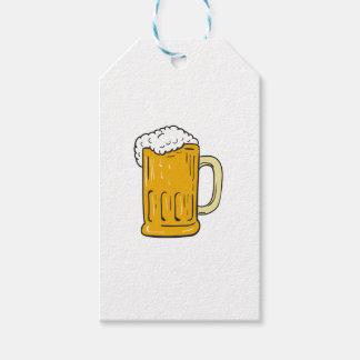 Beer Mug Drawing Gift Tags