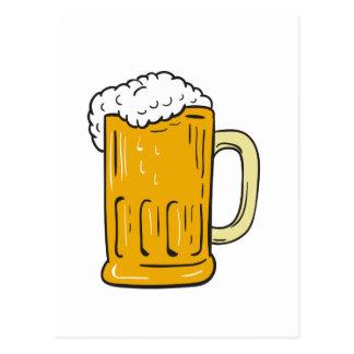 Beer Mug Drawing Postcard