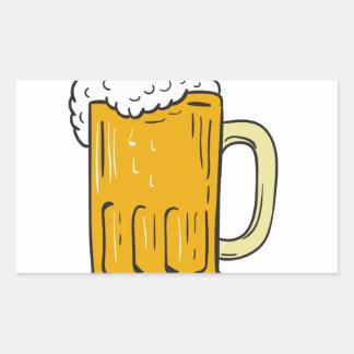 Beer Mug Drawing Rectangular Sticker