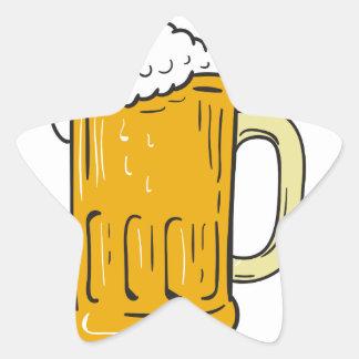 Beer Mug Drawing Star Sticker