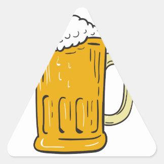 Beer Mug Drawing Triangle Sticker