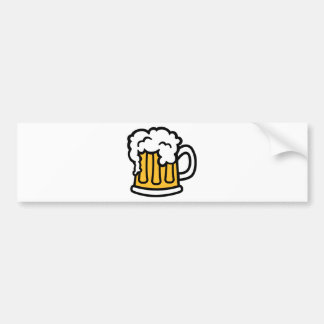 Beer mug froth bumper stickers