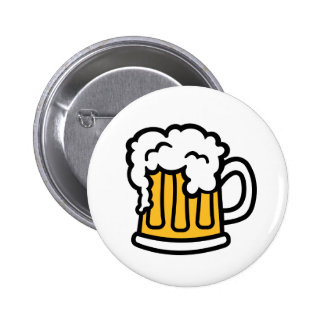 Beer mug froth button