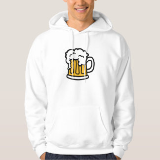 Beer mug froth hoodie