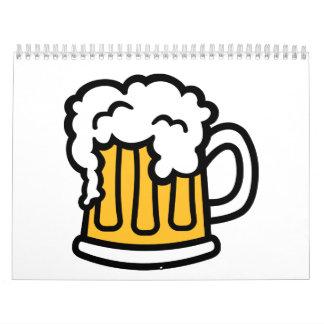 Beer mug froth calendar