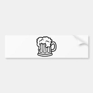Beer mug glass bumper sticker