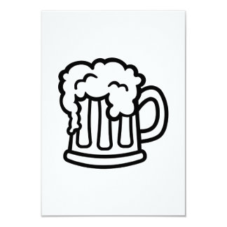 Beer mug glass card