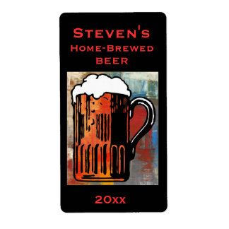 Beer Mug Home-Brew Label