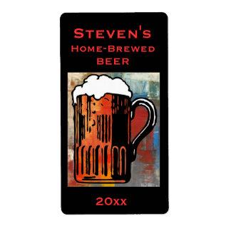 Beer Mug Home-Brew Label Shipping Label