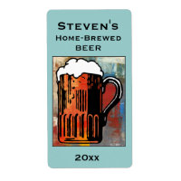 Beer Mug Home-Brew Label Shipping Label