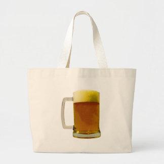 Beer Mug Large Tote Bag