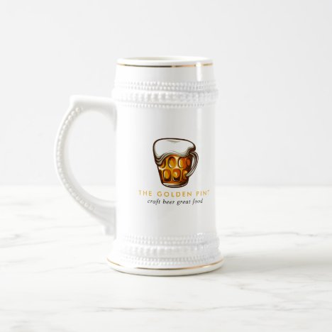 Beer Mug Logo Brewery Bar Business Stein