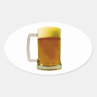Beer Mug Oval Stickers