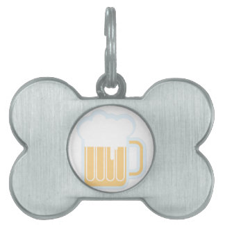 Beer Mug Pet Name Tag
