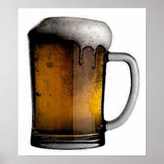 Beer Mug Poster Print