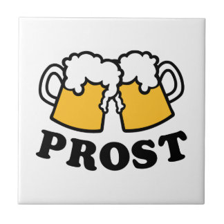 Beer mug Prost Cheers Ceramic Tile