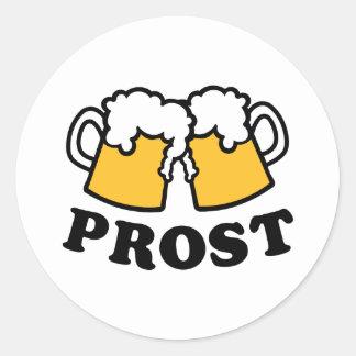 Beer mug Prost Cheers Classic Round Sticker