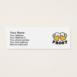 Beer mug Prost Cheers Mini Business Card