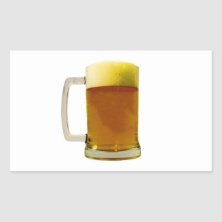 Beer Mug Rectangle Stickers