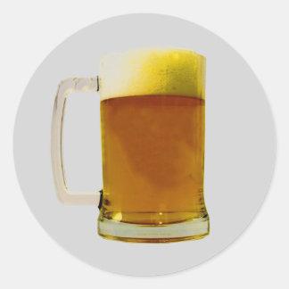 Beer Mug Round Sticker