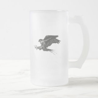 Beer Mug with Peregrine Falcon