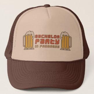 Beer Mugs Bachelor Party in Progress Trucker Hat