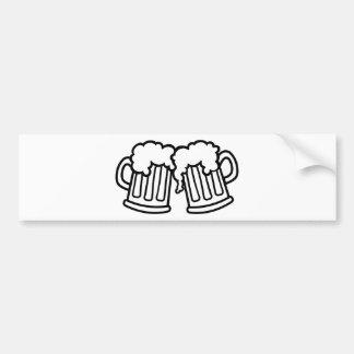 Beer mugs cheers bumper stickers