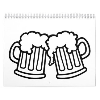 Beer mugs cheers calendar