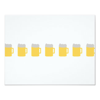beer mugs icon 4.25x5.5 paper invitation card