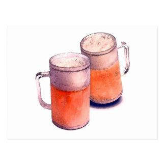 Beer Mugs Postcard