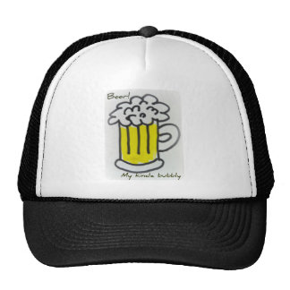 BEER! My kinda bubbly print Mesh Hats
