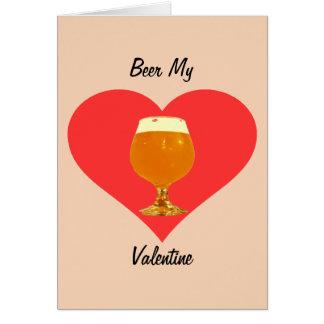 Beer My Valentine Card